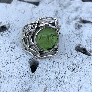 Jewelry - Face Sterling Silver Ring Sz 8